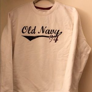 OLD NAVY Off White L/S Sweatshirt